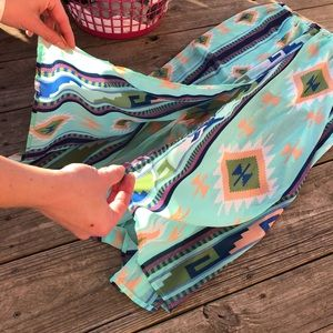 Skies Are Blue Skirts - Boutique maxi skirt with mini lining